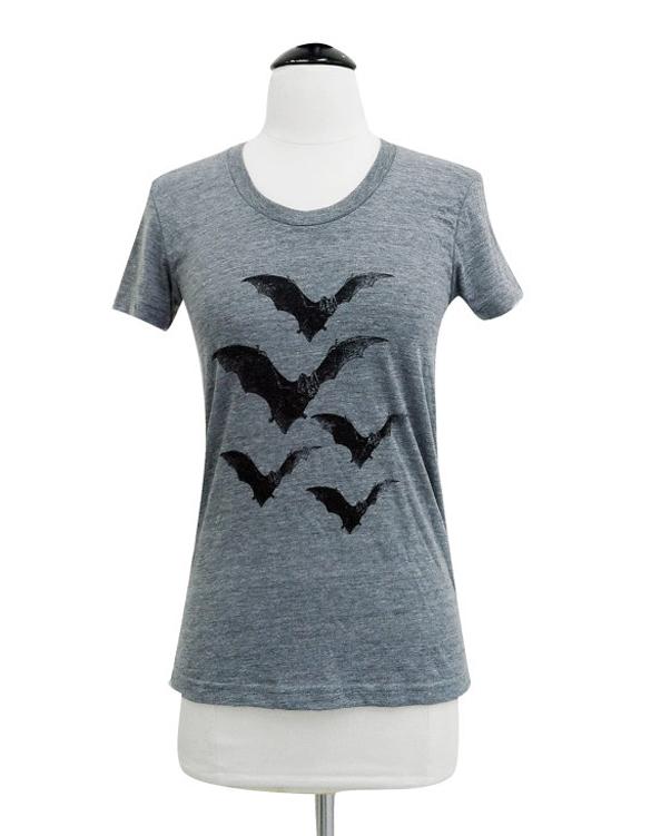 Bat T-Shirt design - Vintage Horror Bats ladies Tri-blend shirt