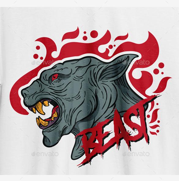 Beast T-Shirt Design by Logokamu