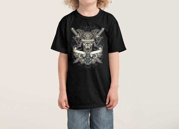 Samurai Warrior, Kids tee design by Barney