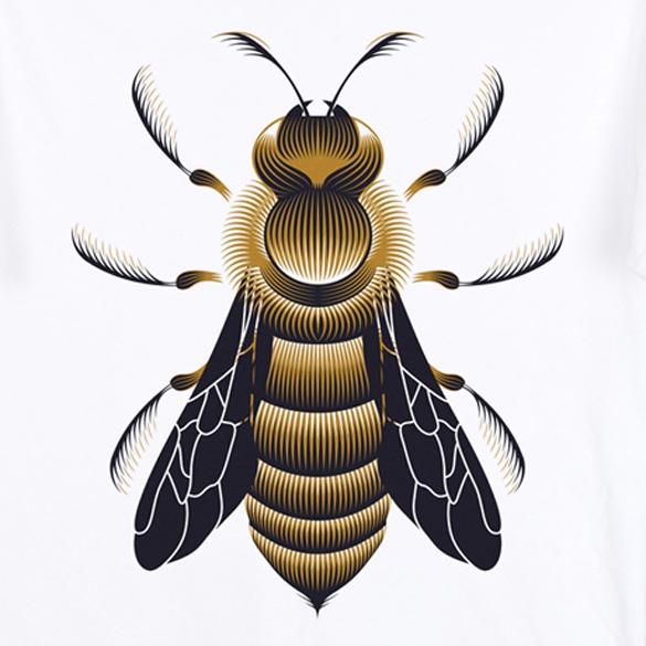 Bee t-shirt design by Patrick Seymour