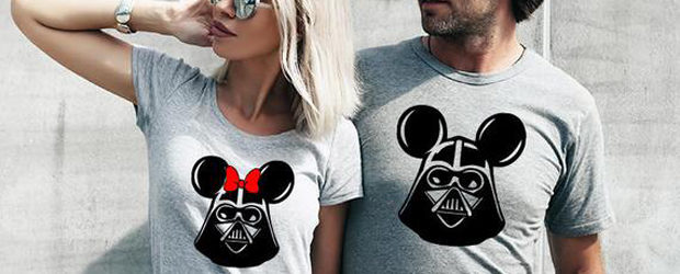 Couples shirt design Darth Vader