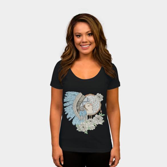 Native american women, t-shirt deisgn by paviash