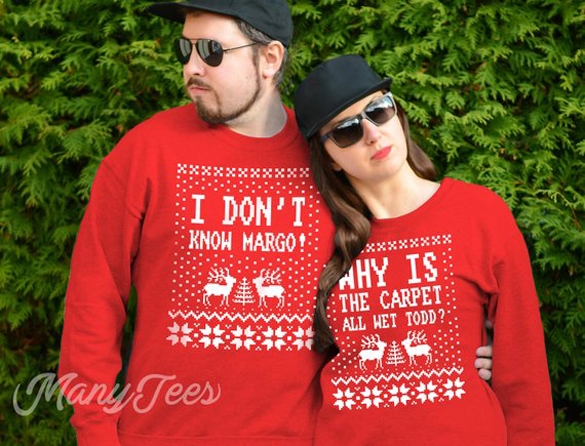 Why is the carpet all wet todd, Christmas couple t-shirts design
