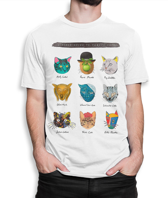Famous Cats Artists T-Shirt design
