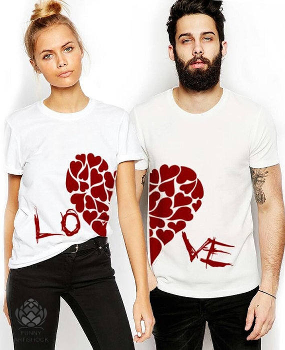 Matching LOVE Couples shirts design