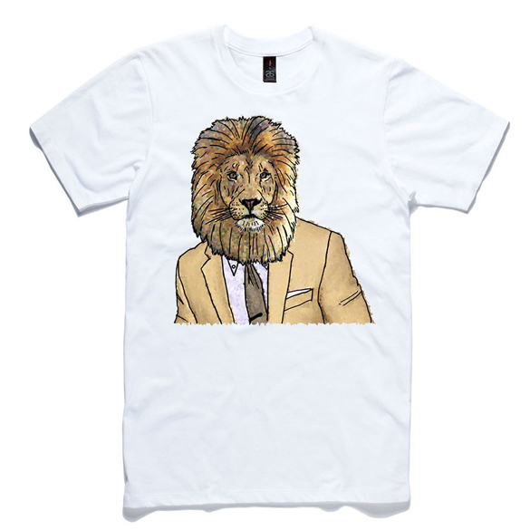 Lion In A Suit T-Shirt design
