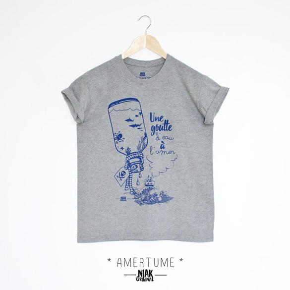 Une goutte d'eau à l'amer t-shirt design