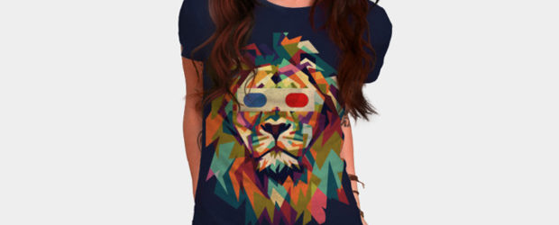 3D Lion t-shirt design
