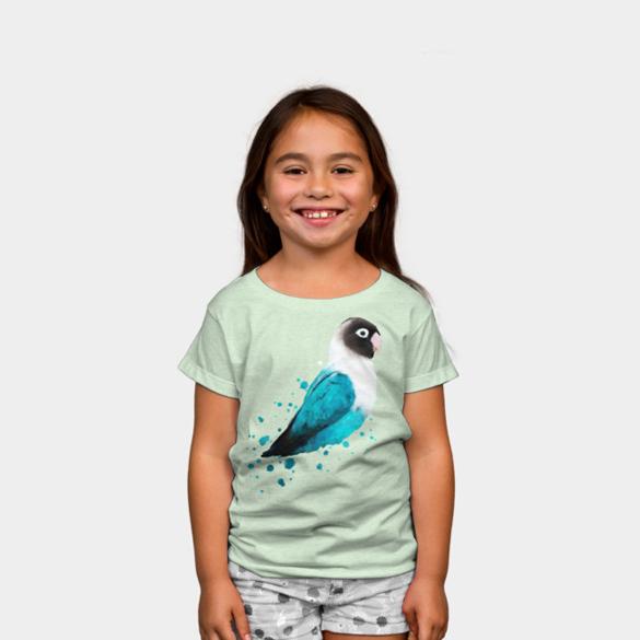 Black-masked Lovebird t-shirt design