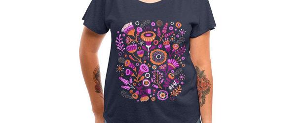 Magic Flowers t-shirt design