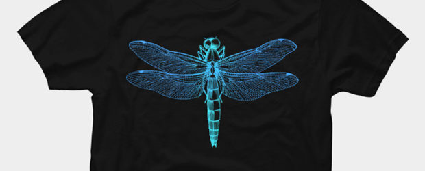 Vintage dragonfly t-shirt design