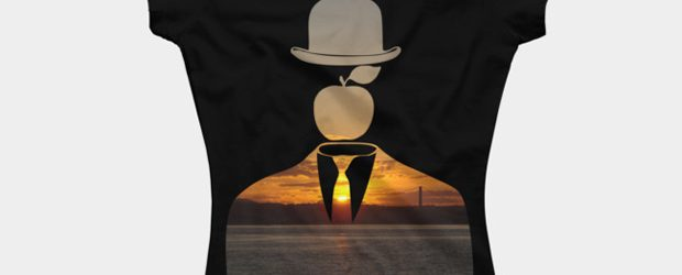 Magritte in the City v.4 t-shirt design