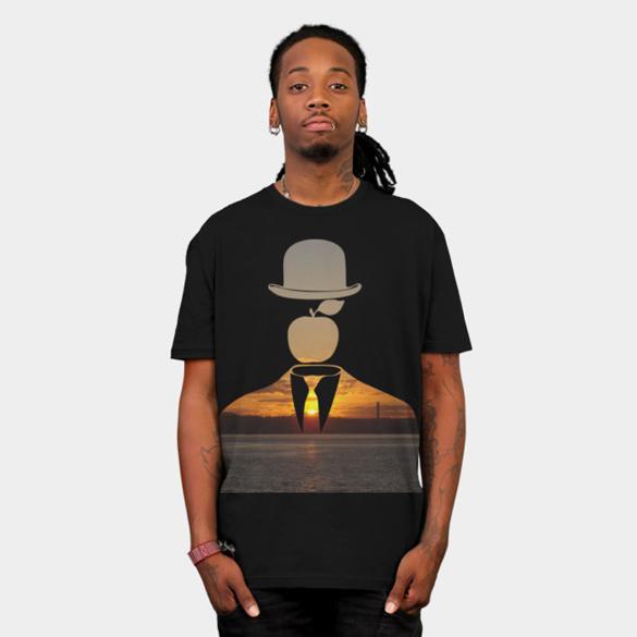 Magritte in the City v.4 t-shirt design
