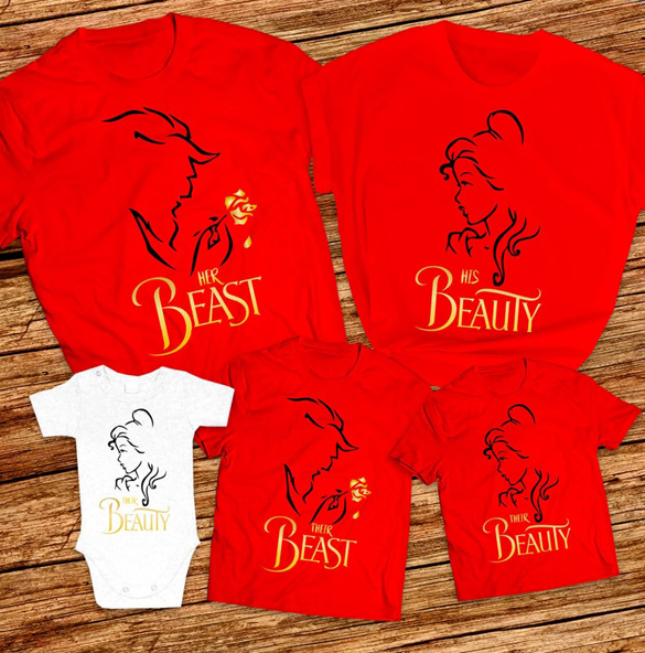 His Beauty and Her Beast t-shirt design