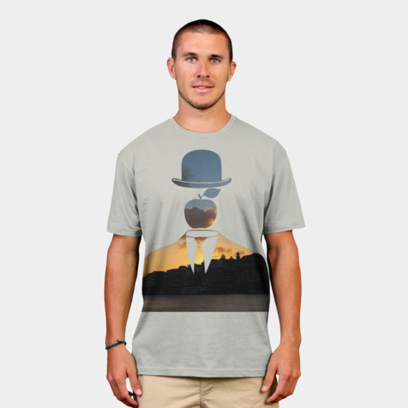 Magritte in the City: Porto (Portugal) t-shirt design