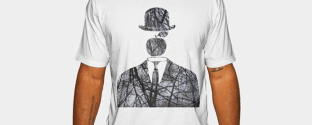 Magritte in the City v.2 (Autumn) t-shirt design