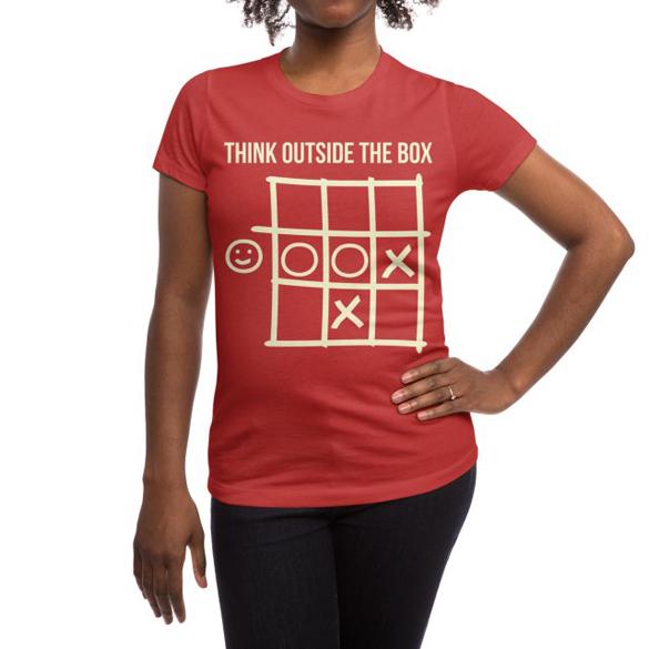 Think outside the box v.1 t-shirt design