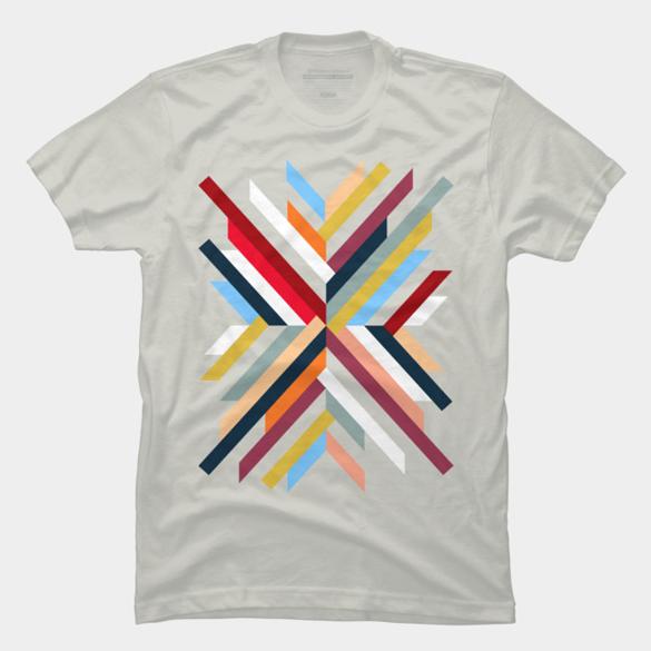 Abstract Geometric t-shirt design