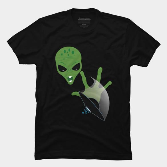 Alien Ufo t-shirt design