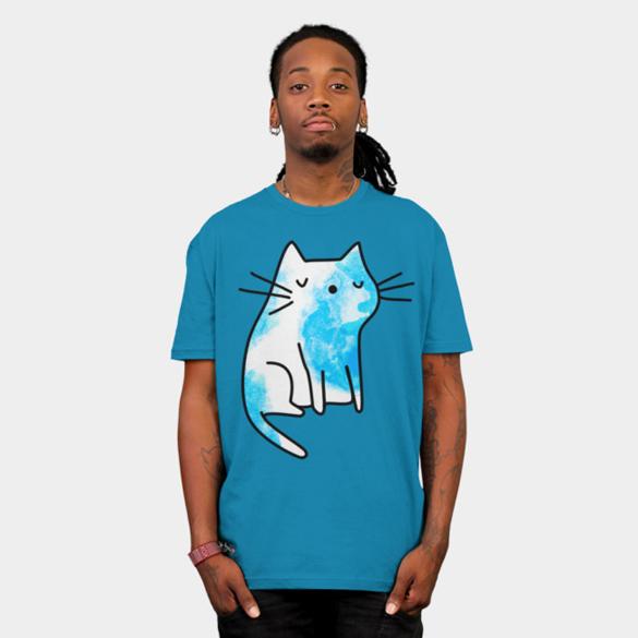 Cute watercolor kitten t-shirt design