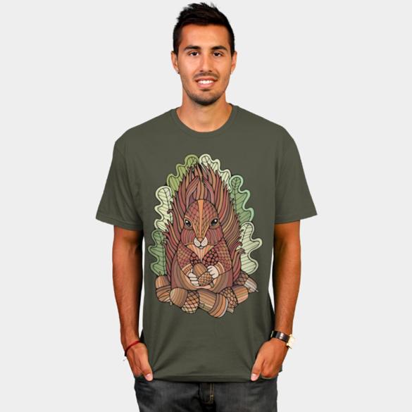 Fantastical Forest Red Squirrel t-shirt design