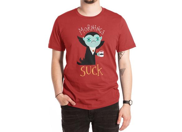 Mornings Suck t-shirt design