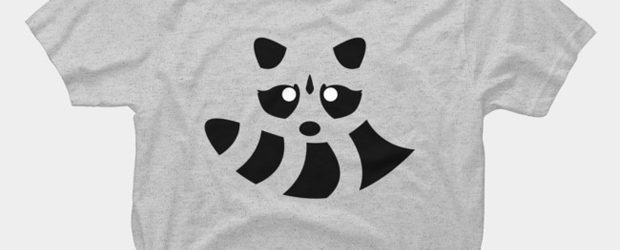 Raccoon Lines t-shirt design