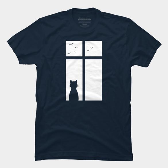 Cat t-shirt design