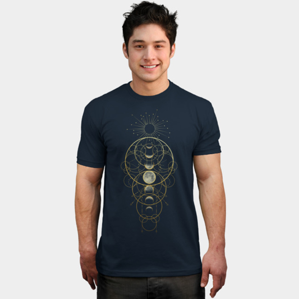 Moon Phases Abstract t-shirt design