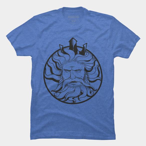 Neptune logo t-shirt design