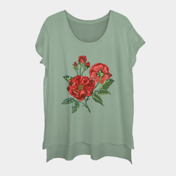 Roses are pugs t-shirt design