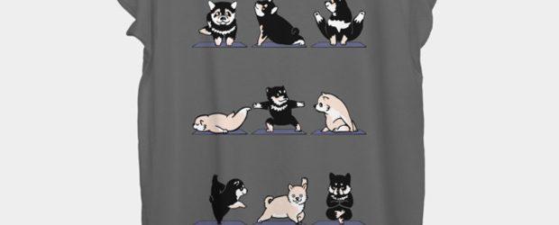 Shiba Yoga t-shirt design