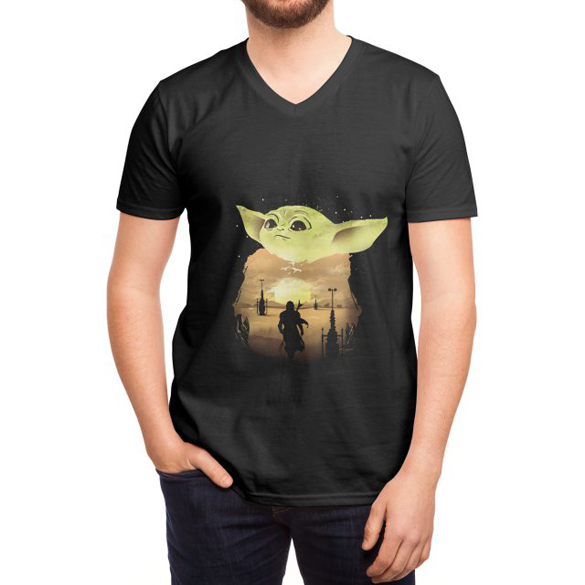 Baby Yoda Sunset t-shirt design