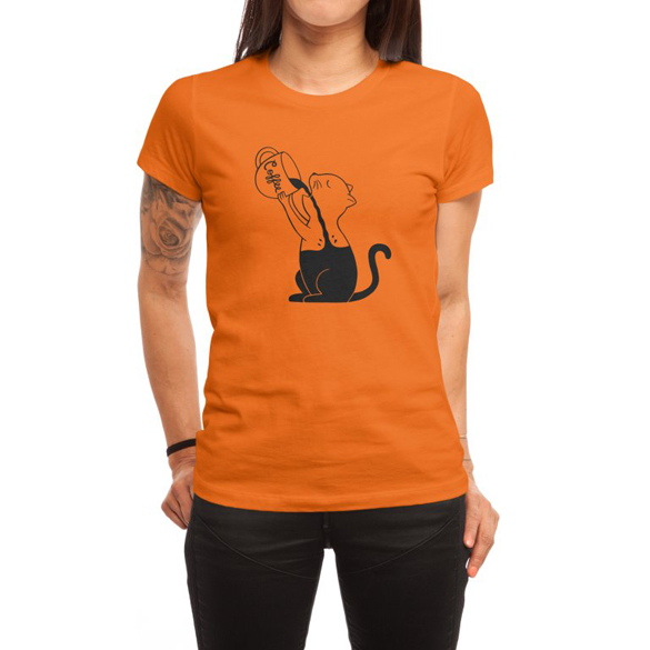 Cat and coffee t-shirt design