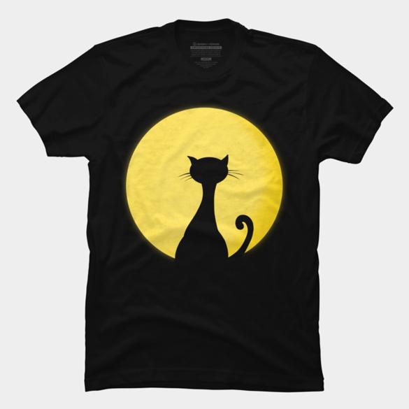 Moon cat t-shirt design