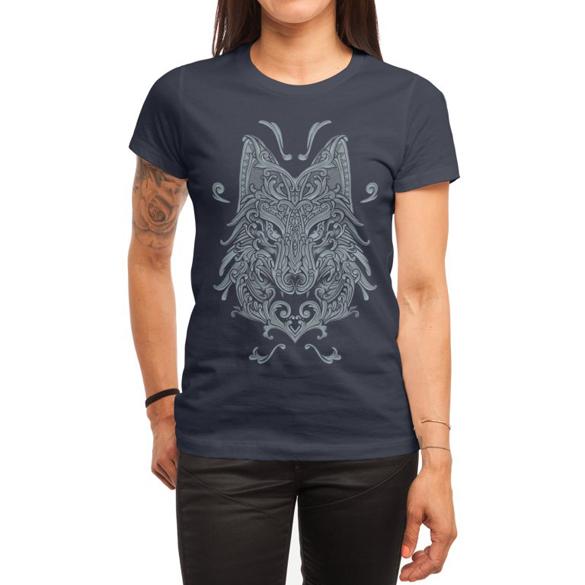 Ornate Wolf t-shirt design