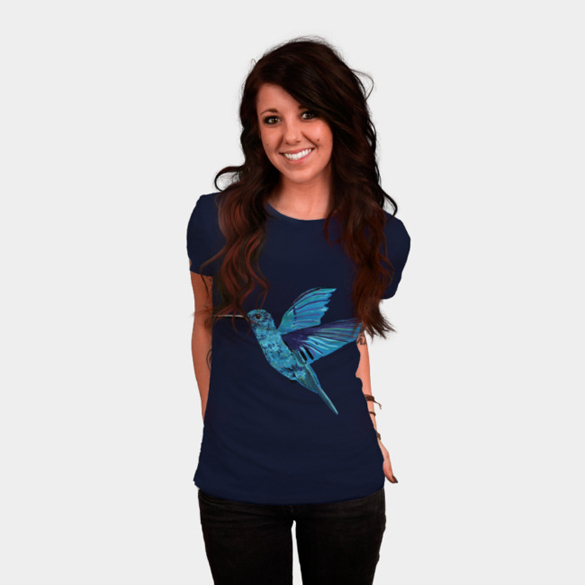 Blue Hummingbird t-shirt design