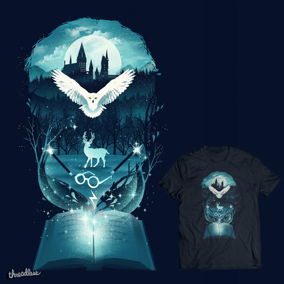 Book of Fantasy t-shirt design