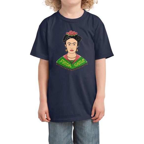 Cat inspired by Frida Kahlo t-shirt design