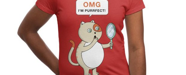 Cat purrfect t-shirt design