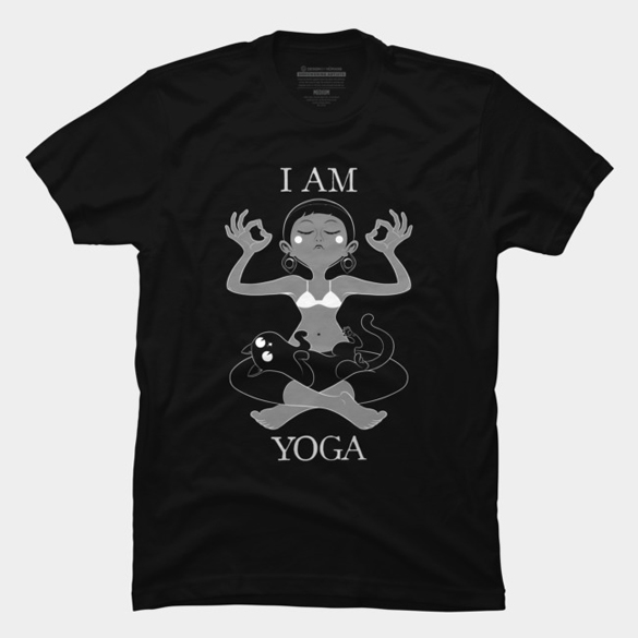 I am Yoga t-shirt design