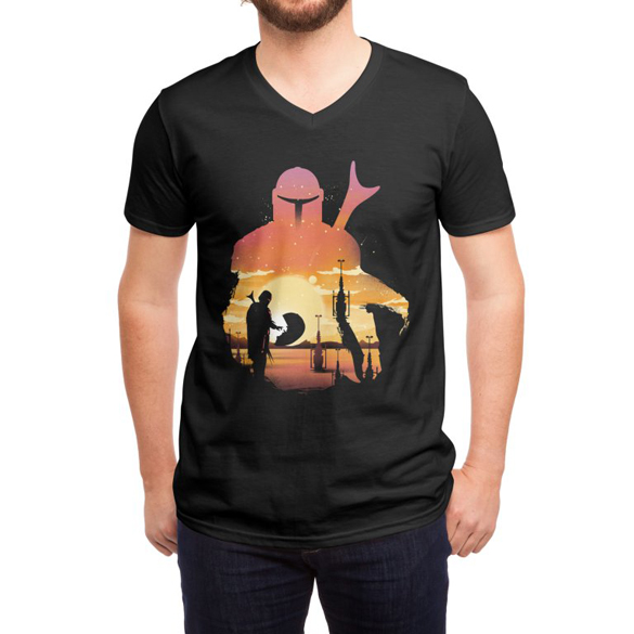 Mando Sunset t-shirt design