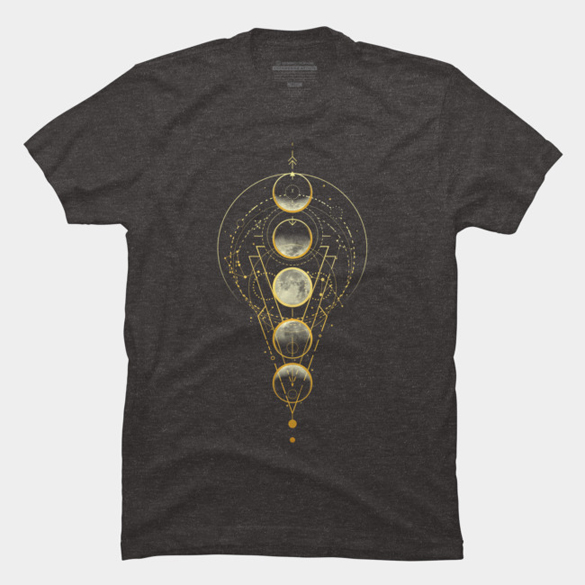 Moon Phases Abstract Geometry t-shirt design