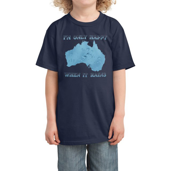 Save Australia - I'm Only Happy When It Rains t-shirt design