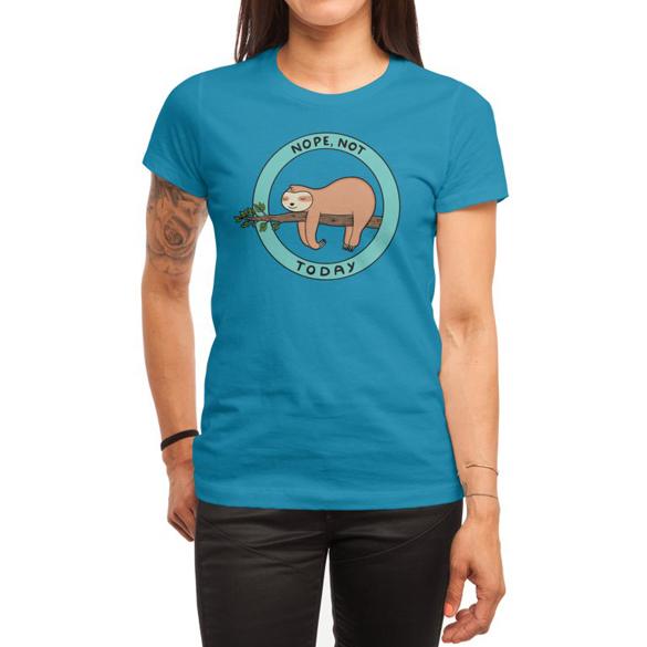 Sloth, no, nope today t-shirt design