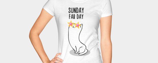 Sunday Fab Day t-shirt design