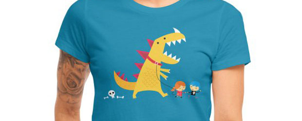Dino Walk t-shirt design