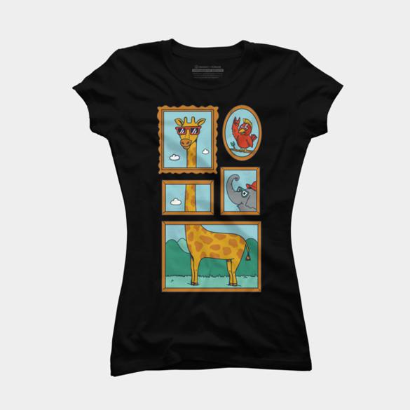 Giraffe Portrait t-shirt design