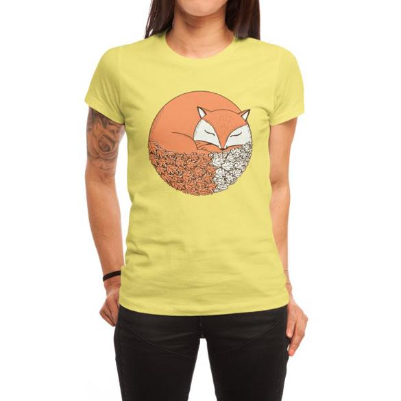 Fox sleep t-shirt design
