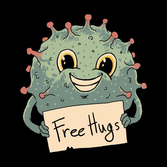 Free Virus Hugs t-shirt design